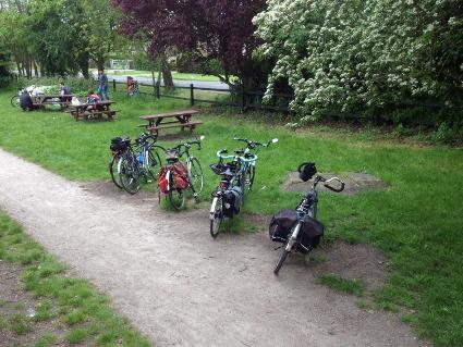 Bikes parked up at Rayne