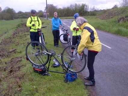 Alan fixing another puncture