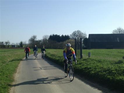 Cycling along Well Lane