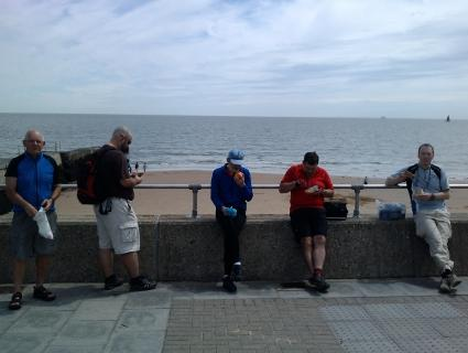 Lunch on the seafront in Walton